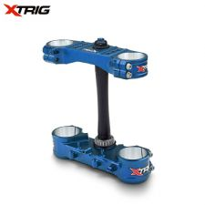 Xtrig Triple Clamp Set Yamaha YZF250 12-15 YZF450 10-15 (OS 20-22mm) M12 (LTD Blue)